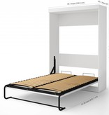 Bestar Edge Full Wall Bed with 2-Drawer Storage Unit in White