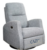 Cazis Athen Electric Rocking, Swivel, and Recliner Chair, Grey Fabric  Athens