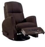 Cazis Athen Rocking, Swivel, and Recliner Chair, Chocolate Fabric