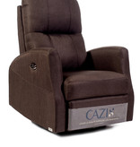 Cazis Athen Electric Rocking, Swivel, and Recliner Chair, Chocolate Fabric