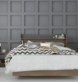 Nexera Neptune 3 pcs Full Size Bedroom Set, Walnut & Charcoal