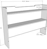 Nexera Neptune 2 pcs Full Size Bedroom Set, Walnut & Charcoal