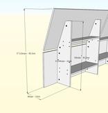 Nexera Arcadia 3 pcs Full Size Bedroom Set, Truffle & White