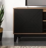 Nexera Arrow TV Stand, 72-inch, Nutmeg and Black