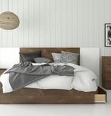 "Nexera 3-Drawer Queen (60"") Size Bed, Truffle"