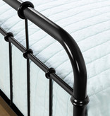 South Shore Cotton Candy Twin Metal Complete Bed, Black