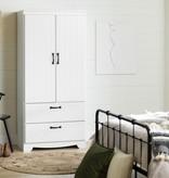 South Shore Farnel Wardrobe Armoire, Pure White
