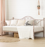 South Shore Lily Rose Twin Metal Daybed, Pink Blush
