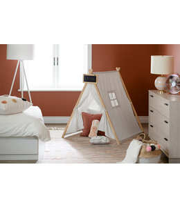 South Shore Tente de jeu avec tableau, Coton naturel et pin, collection Sweedi