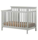 South Shore Cotton Candy Baby Crib 4 Heights with Toddler Rail, Soft Gray