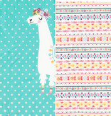 South Shore DreamIt Comforter and Pillowcase Festive Llama, Twin, Turquoise and Pink