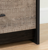 South Shore Londen 5-Drawer Chest, Weathered Oak and Ebony