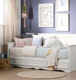 """South Shore Lit simple (39"""") de jour avec rangement, Blanc solide, collection Savannah"""