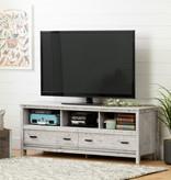 South Shore Meuble TV pour TV jusqu'à 60'', Pin bord de mer, collection Exhibit