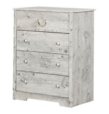 South Shore Commode 4 tiroirs, Pin bord de mer, collection Aviron