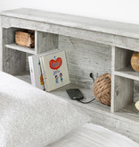 """South Shore Tête de lit simple (39"""") bibliothèque, Pin bord de mer, collection Aviron"""
