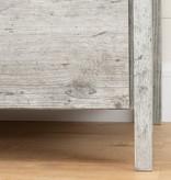 South Shore Table de chevet 2 tiroirs, Pin bord de mer, collection Gravity