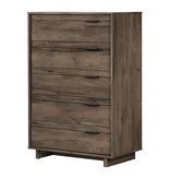 South Shore Commode 5 tiroirs, Chêne automnal, collection Fynn