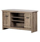 South Shore Exhibit Corner TV Stand, for TVs up to 42'', Weathered Oak
