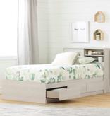"""South Shore Tête de lit simple (39"""") avec rangement, Chêne hivernal, collection Fynn"""