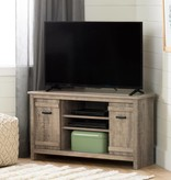 South Shore Meuble TV en coin pour TV jusqu'à 42'', Chêne vieilli, collection Exhibit