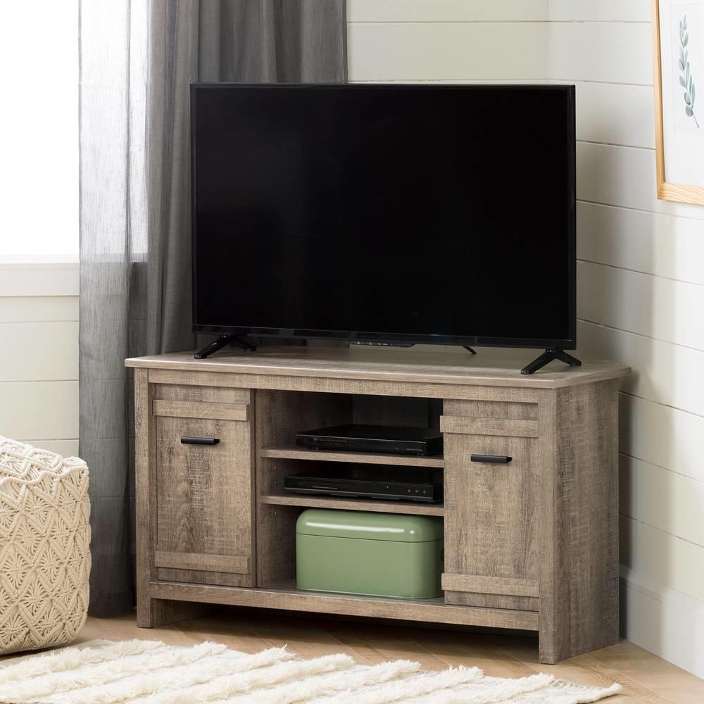 Meuble Tv Pour Coin exhibit meuble tv en coin pour tv jusqu'à 42'', chêne vieilli