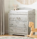 South Shore Aviron Changing Table with Drawers, Seaside Pine