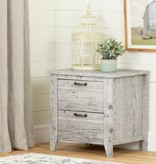 South Shore Lionel 2-Drawer Nightstand, Seaside Pine
