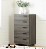 South Shore Cavalleri 5-Drawer Chest, Gray Maple