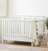 South Shore Cotton Candy Baby Crib 4 Heights with Toddler Rail, Pure White