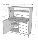 Nexera Boss Secretary Desk, Nutmeg and White