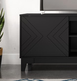 Nexera Arrow TV Stand, 72-inch, Black