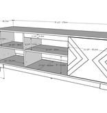 Nexera Arrow TV Stand, 72-inch, Nutmeg and Greige