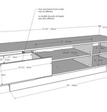 Nexera Galleri TV Stand, 72-inch, Charcoal Grey