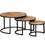 !nspire Darsh Coffee Table 3pcs, Washed Grey
