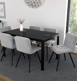 WHi Contra Dining Table, Black