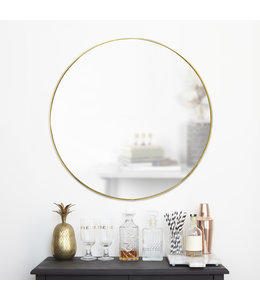 "Umbra Hubba Mirror 34"", Brass"