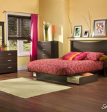 South Shore Step One Nightstand, Chocolate