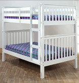 """Titus Full Size Bunk Bed (54""""), White"""