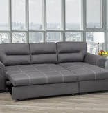 Titus Pull-Out Sofa Sectional, Grey