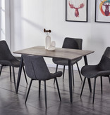 Titus 5 pcs Dining Set, Grey and Black