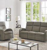 Cazis Swivel and Reclining Armchair, Coffee Fabric, Nice Collection
