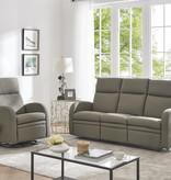 Cazis Reclining Sofa, Coffee Fabric, Nice Collection