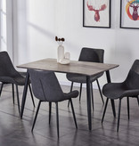 """Titus Dining Table (31"""" x 48""""), Grey and Black"""
