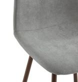 WHi Onio 26'' Counter Stool, Grey/Walnut Legs