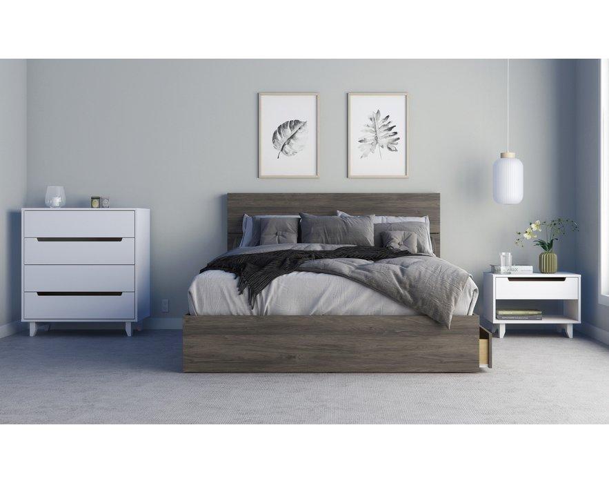 Queen Size Platform Bed 60 With 3, Macys Tribeca Grey Queen Bed