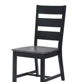 Donald Choi Drake II 6 pc Dining Set with with bench, Black and Grey