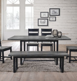 "Donald Choi Drake II Dining Table (39""x72""), Black and Grey"
