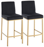 """!nspire Diego 26"""" Counter Stool, Black and Gold Leg"""