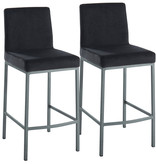 "!nspire Diego 26"" Counter Stool, Black and Grey Leg"